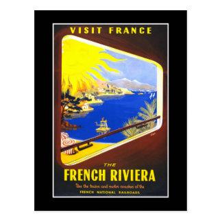 Carte Postale Voyage vintage de la Côte d'Azur