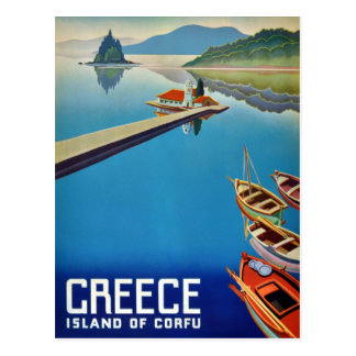 Carte Postale Voyage vintage de la Grèce - île de Corfou