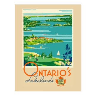Carte Postale Voyage vintage de Lakelands Canada d'Ontario