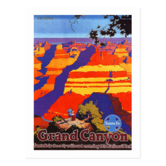 Carte Postale Voyage vintage de l'Arizona de canyon grand
