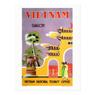 Carte Postale Voyage vintage de Saigon Vietnam