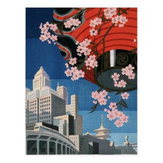 Carte Postale Voyage vintage de Tokyo