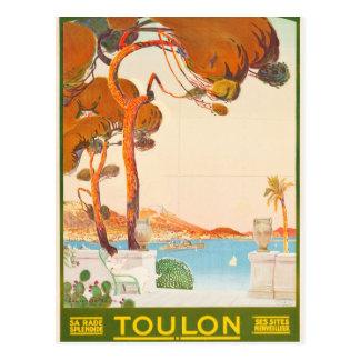 Carte Postale Voyage vintage de Toulon Cote d'Azur Provence