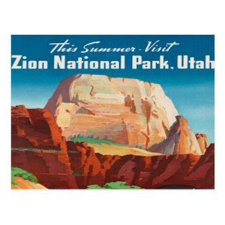 Carte Postale voyage vintage de vacances de l'Utah de parc
