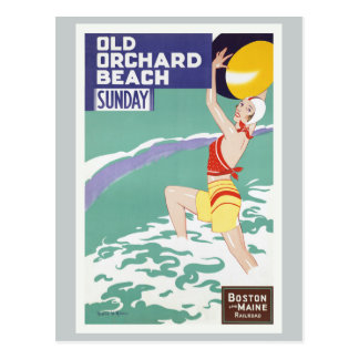 Carte Postale Voyage vintage de vieille plage de verger
