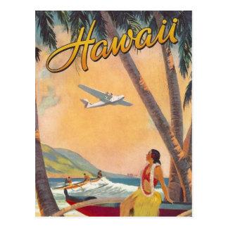 Carte Postale Voyage vintage d'Hawaï