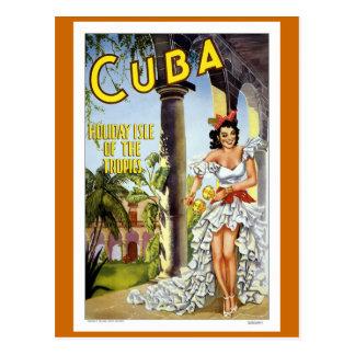 Carte Postale Voyage vintage du Cuba
