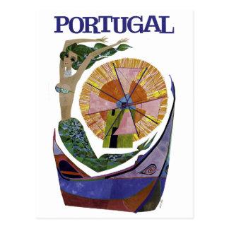 Carte Postale Voyage vintage du Portugal de ligne aérienne