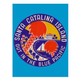 Carte Postale Voyage vintage - île de Père Noël Catalina