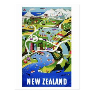 Carte Postale Voyage vintage mignon de la Nouvelle Zélande