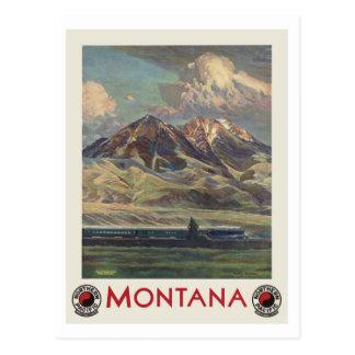 Carte Postale Voyage vintage Montana par chemin de fer