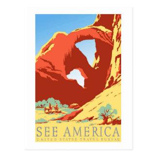 Carte Postale Voyage vintage national du Colorado Co de parc de