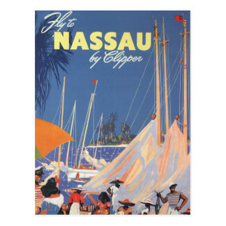 Carte Postale Voyage vintage, port de Nassau, la Floride,