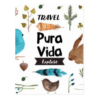 Carte Postale Voyagez et explorez la couleur pour aquarelle
