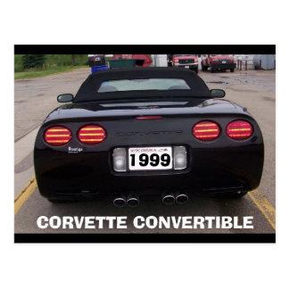 CARTE POSTALE VUE 1999 ARRIÈRE CONVERTIBLE DE CORVETTE