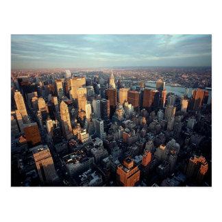 Carte Postale Vue aérienne Chrysler de New York City