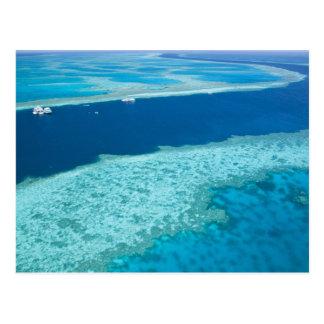 Carte Postale Vue aérienne de la Grande barrière de corail par