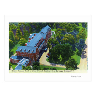 Carte Postale Vue aérienne de l'hôtel de Gideon Putnam, spa