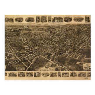 Carte Postale Vue aérienne de Middletown, New York (1921)