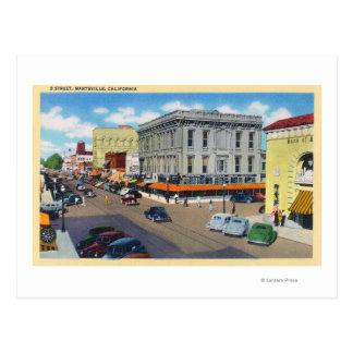 Carte Postale Vue aérienne de rue de D