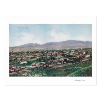 Carte Postale Vue aérienne de ville des collines