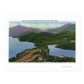 Carte Postale Vue aérienne des lacs placides et du miroir
