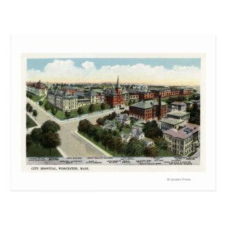 Carte Postale Vue aérienne d'hôpital de ville