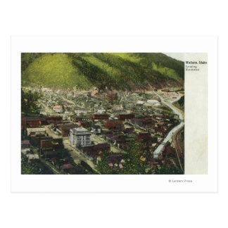 Carte Postale Vue aérienne du nord-ouest de TownWallace,