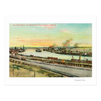 Carte Postale Vue aérienne du port de San Pedro