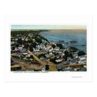 Carte Postale Vue aérienne orientale de ville de pèlerin
