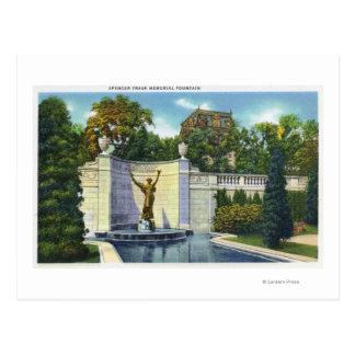 Carte Postale Vue commémorative de fontaine de Spencer Trask