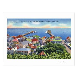 Carte Postale Vue commémorative de pèlerin du port