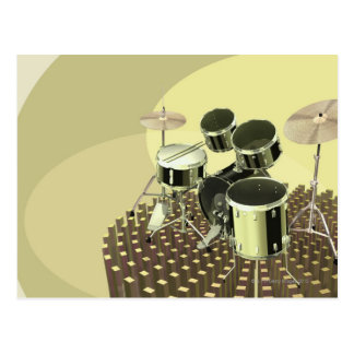 Carte Postale Vue courbe d'un kit de tambour