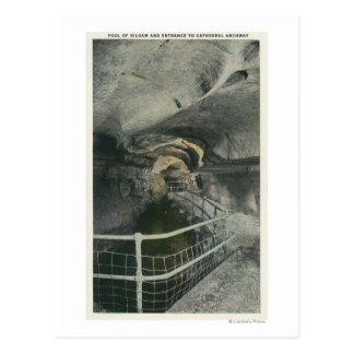 Carte Postale Vue d'arcade de cathédrale de piscine de Siloam