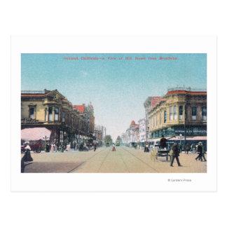 Carte Postale Vue de 13ème rue de BroadwayOakland, CA