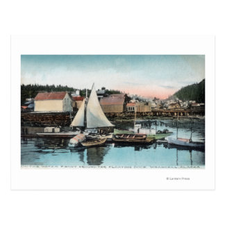 Carte Postale Vue de bord de mer du dock flottant