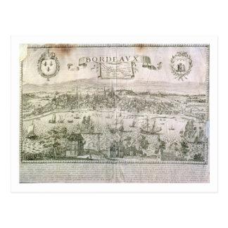 Carte Postale Vue de Bordeaux et de la rivière la Garonne,