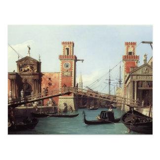 Carte Postale Vue de Canaletto- de l'entrée à l'arsenal