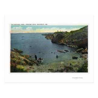Carte Postale Vue de crique de Perkins, scène de natation