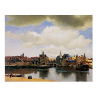 Carte Postale Vue de Delft par Johannes Vermeer