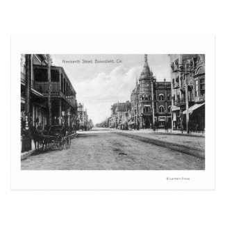 Carte Postale Vue de dix-neuvième rue # de 2Bakersfield, CA