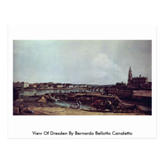 Carte Postale Vue de Dresde par Bernardo Bellotto Canaletto