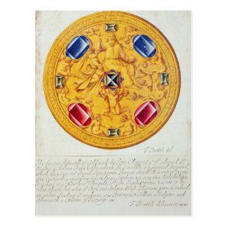 Carte Postale Vue de face d'un ornement pectoral