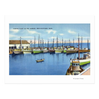 Carte Postale Vue de flotte de pêche dans le port
