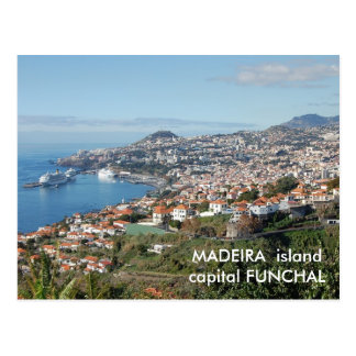 Carte Postale Vue de Funchal, île de la Madère
