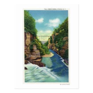 Carte Postale Vue de gorge de crique d'automne