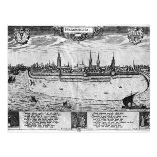 Carte Postale Vue de Hambourg
