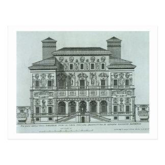 Carte Postale Vue de la façade de la villa Borghese, Rome