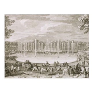 Carte Postale Vue de la fontaine de Neptune, Versailles (engra