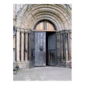 Carte Postale Vue de la porte du nord de la cathédrale de Durham